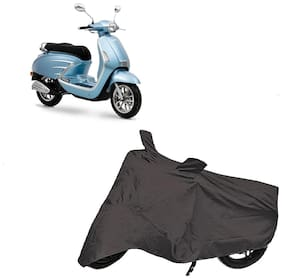 De-Autocare Premium Quality Grey Matty Two Wheeler Scooter Scooty Body Cover For Um Chill 150 With Mirror Pockets
