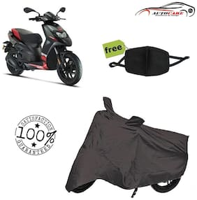 De-Autocare Premium Quality Grey Matty Scooty Body Cover For Aprilia SR 150 With Free Anti Dust / Pollution Protective Face Mask Mouth & Nose Respirator For Boys & Girls