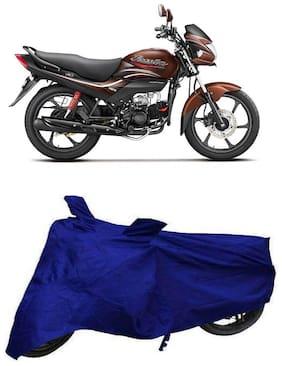 De-Autocare Premium Quality Royal Blue Matty Bike Body Cover for Hero Passion Pro i3S