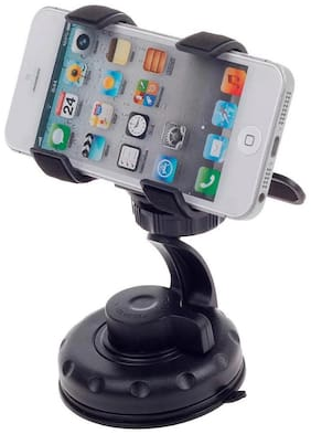 De-Autocare Universal 360 deg Rotating Strong Grip Fly Suction Windshield Car Dashboard GPS V3 Mobile Holder Stand Mount For All Smartphones