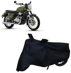 De-Autocare Premium Quality Black Matty Two Wheeler Bike Body Cover For Jawa Forty Two 42 With Mirror Pocket