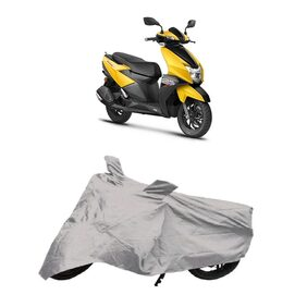 De-Autocare Premium Quality Silver Matty Scooty Body Cover for TVS NTORQ 125