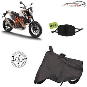 De-Autocare Premium Quality Grey Matty Bike Body Cover For KTM Duke With Free Anti Dust / Pollution Protective Face Mask Mouth & Nose Respirator For Boys & Girls