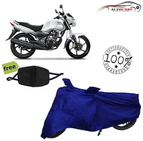 De-Autocare Premium Quality Royal Blue Matty Bike Body Cover For Honda CB Unicorn With Free Anti Dust / Pollution Protective Face Mask Nose & Mouth Respirator For Boys & Girls