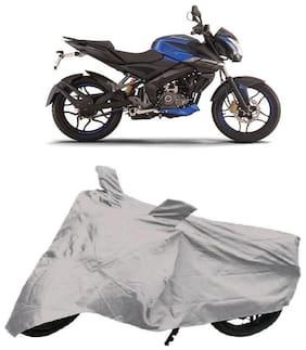 De-Autocare Premium Quality Silver Matty Bike Body Cover for Bajaj Pulsar NS160