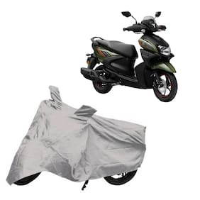 De-Autocare Premium Quality Silver Matty Two Wheeler Scooter Scooty Body Cover For Yamaha Ray-Zr 125 Fi With Mirror Pockets