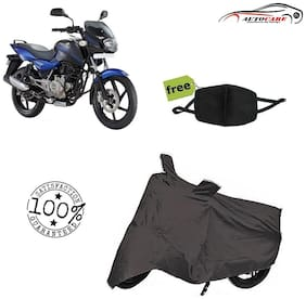 De-Autocare Premium Quality Grey Matty Bike Body Cover For Bajaj pulsar 180 With Free Anti Dust / Pollution Protective Face Mask Mouth & Nose Respirator For Boys & Girls