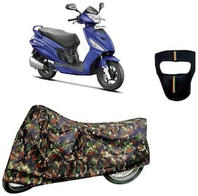De-Autocare Premium Quality Junglee Matty Scooty Body Cover for Hero Maestro Edge With Free Anti Dust / Pollution Protective Big/Full Face Mask For Men & Women