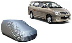 De AutoCare Tripple Stich Premium Silver Matty Car Body Cover For Toyota Innova Model (Without Mirror Pockets)