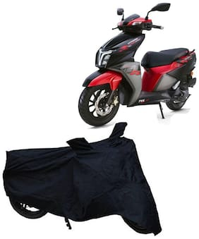 De-Autocare Premium Quality Black Matty Two Wheeler Scooter Scooty Body Cover For Tvs Ntorq 125 Race Edition With Mirror Pocket