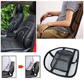 Decorcrafts New Comfortable Mesh Ventilate Car Seat Office Chair Massage Back Lumbar Support