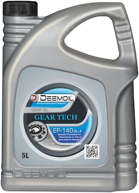 DEEMOIL GEAR TECH EP-140 GL-4 Gear Oil for All Types of Gear Systems (5 Litre)