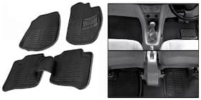 Hi Art 3D Black Floor And Foot Mats For Civic
