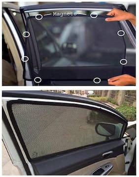 DGC Car Magnetic Window Sun Shades For Honda Amaze (4 pc.)