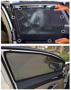 DGC Car Magnetic Window Sun Shades For Toyota Fortuner (6 pc.)