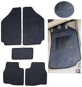 Hi Art Car Foot Mat Carpet Black For Universal Make Set of 5 pcs
