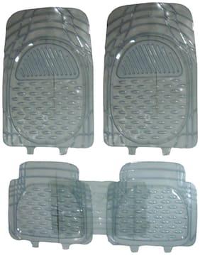 Hi Art Car Foot Mat Premium Transparent For Chevrolet Enjoy (5 Pcs)