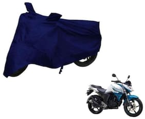Dh Creation Blue Colour Bike Body Cover, Dust & Water Resistant With Mirror Pocket & Belt Buckle For Yamaha FZS- F I