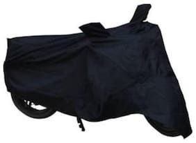 Dh Creation Black Colour Dust & Water Resistant Bike Body Cover With Mirror Pocket For Honda Activa 125