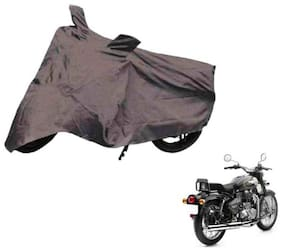 Dh Creation Bike Body Cover Dust & Water Resistant With Mirror Pocket & Belt Buckle For Royal Enfield Bullet - 350