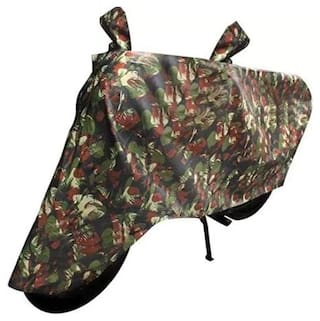 Dh Creation Green Jungle Print Dust & Water Resistant Bike Body Cover For Royal Enfield Classic 350