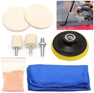 DIY Crafts  20 grm + 8 pc Repair Tool Auto Car Home Office Glass Polishing Kit Windscreen Windows Scratch Remover Combo Multiutility Kit