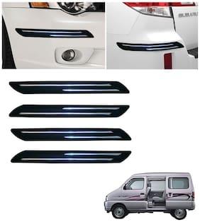 Chromestrip Car Bumper Protector (Black)- Maruti Versa