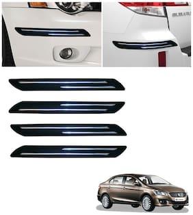 Double Chromestrip Car Bumper Protector (Black)- Maruti Ciaz