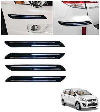 Double Chromestrip Car Bumper Protector (Black)- Maruti Swift (old)