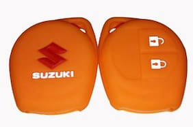 DreamPalace India Maruti Suzuki Silicone Car Key Cover (Orange)
