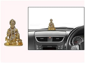 DreamPalace India Hanuman Ji 1 Hanuman Ji Decorative Showpiece - 8 cm (Brass;Gold)