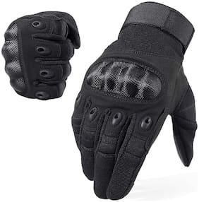 Dreampalace india Touchscreen Windproof Warm Gloves Pair;Black