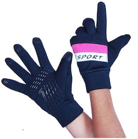 DreamPalace India Winter Outdoor Gloves Athletic Touch Screen Gloves Riding Gloves/Waterproof Glove (Pink)