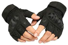DreamPalace India Tactical Gloves Men Half-finger Gloves Fiber Military Glove Tactical (Black)