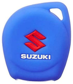 DreamPalace India DreamPalace India Key Shell Silicon Keycover with 2 Button Remote Key for Suzuki Swif (Blue)