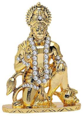 DreamPalace India IDOL Of Lord Hanuman Ji For Home Office and Car Dashboard Decorative Showpiece (Gold)