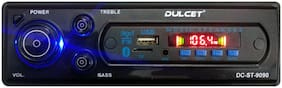 Dulcet DC-ST-9090 Double IC High Power Universal Fit Mp3 Car Stereo with Bluetooth/USB/FM/AUX/MMC/Remote & Built-in Equalizer with Bass & Treble Control [Also;Includes a Free 3.5mm Aux Cable]
