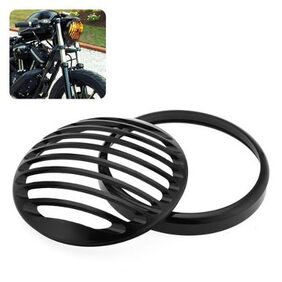Durable Aluminum Motorcycle Headlight Grill Cover Case for Harley XL883