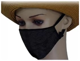 Dust Cotton Mouth Nose Cover Universal For Bike Anti-pollution Mask (1Pc) Black
