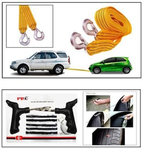 Easy4buy 1 3 Tonne 3.5m Tow Cable And 1 Puncture Kit Combo