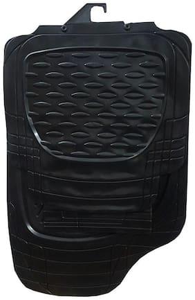 Ek Retail Shop Universal Car Floor Mats (Black) Set Of 4 For MAHINDRA KUV100