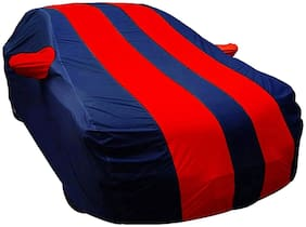 EKRS Car Body Covers For  Hyundai EON LPG Magna Plus (LPG) with Mirror Pockets, Triple Stitching & Light Weight (Navy Blue & RED Color)