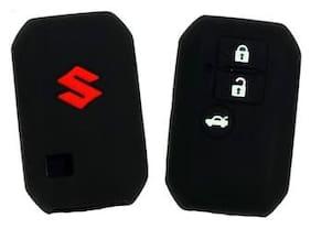 ElectriBles Silicone  Suzuki 3 Push Start Buttons Car Remote Flip Smart Key CoverKey Shell Fit For Maruti Suzuki Ertiga