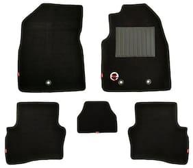 Elegant 3D Royal Carpet Black Car Mats for Tata Tiago(Set of 5 pc)