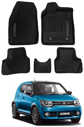 Elegant 3D Sportivo Black Car Mats for Maruti Suzuki Ignis (Set of 5 pc)