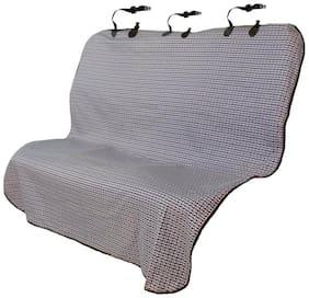 Elegant Blue Bone Dog Rear Seat Protector For Mahindra Xylo