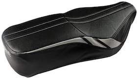 Elegant Bolt Sports Black and Silver Single Bike Seat Cover For TVS Apache RTR 180