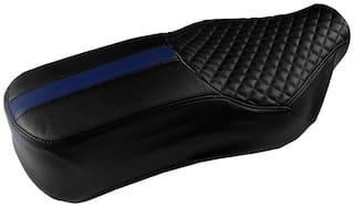 Elegant Cameo Sports Black and Blue Single Bike Seat Cover For Bajaj V15