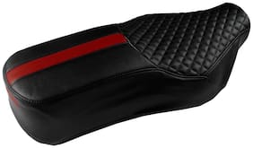 Elegant Cameo Sports Black and Red Single Bike Seat Cover For Honda CB Hornet 160R