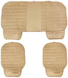 Elegant Caper CoolPad Car Seat Cushion Beige For Ford Figo [2010-2015] (Set of 3)